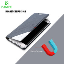 FLOVEME Magnetic Leather For Samsung Galaxy S7 Edge S8 Plus S6 Edge Case Matte Flip Phone Bag Cover For Galaxy S8 S7 Cases Coque(China)