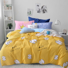 Adults Kids Boho Bedding sets Single Twin Queen Size Fitsheet Bed Linen Grey Yellow Duvet cover 4 pcs 100% Cotton Bed set