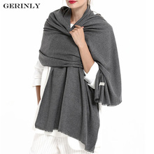 GERINLY Luxury Brand Scarf Women's Pashmina Cashmere Scarf Wrap Shawl Winter Scarfs Ladies Scarves Fringe Long Blanket Cachecol(China)