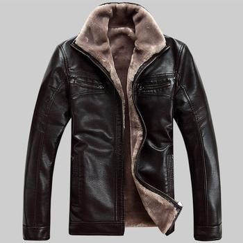 Livraison gratuite Vente Chaude Hiver Épais En Cuir Vêtement Décontractés flocage Veste En Cuir Hommes Vêtements En Cuir de Veste Hommes 1813