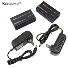 Kebidumei HD 1080P HDMI Extender Transmitter TX/RX 60M By CAT6e RJ45 Ethernet Cable Support HDMI 3D for HDTV Projector DVD