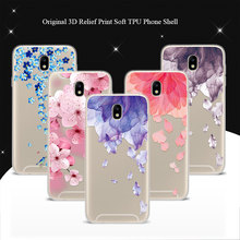 "Cover Case For Samsung Galaxy J7 2017 J7 Pro 5.5"" 3D Relief Flower Bird Lace Phone Cases Coque For Samsung J7 2017 EU Version(China)"