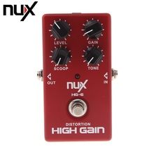 NUX HG-6 Modern High Gain Guitar FET simulate Distortion Overdrive Effect Pedal True bypass Hardware Switching(China)