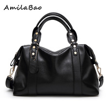 italian leather handbags ladies Vintage Famous Designer Brand Bag Women Leather Handbags Luxury Purse Fashion Shoulder ME576(China)