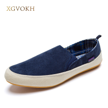 XGVOKH New men casual shoes man spring autumn Loafers England Fashion Zapato Breathable Slip on flats