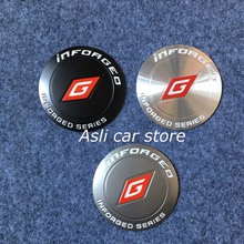 65mm Taiwan Inforged Wheels Racing Emblem Badge Logo Alloy Wheel Center Hub Caps Cover