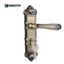 Retro Exquisite Handle Lock Bearing Mute Lockset Zinc Alloy Copper Lockcore Quality Commitment Indoor Room Door Locks(China)