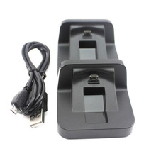 Dual Micro USB Charger Charging Docking Dock Station Stand for PS 4 Controller Useful PS4 Video Game Accessories Wholesale(China)