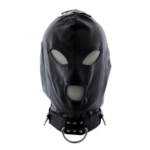Buy Black Spandex Open Mouth Sex Mask Head Bondage Restraint Hood Mask Flirting Headgear Fetish Mask Adult Sex Products Couples