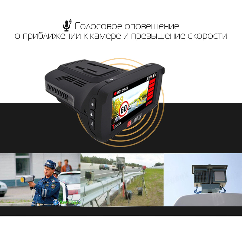 Car-Dash-Cam-Radar-Detector-GPS-3-in-1-Ambarella-A7LA50-Full-HD-1926P-170-Degree