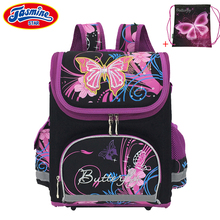 JASMINESTAR Children School Bag Butterfly Kids Primary Orthopedic Portfolio Backpack For Girls For School Student Cartoon Bags(China)