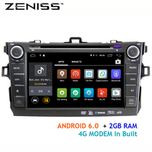 Free shipping Android6.0 Car DVD ForToyota Corolla Altis 4g modem with 2din car Navigation Radio GPS wifi dvd car corolla altis