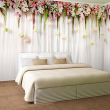 3D Wallpaper Custom Wallpaper For Wall Modern Romantic Flowers Wall For Bedding Room TV Backdrop Wall Mural Non-woven Wall Paper