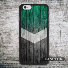 Green Wood Chevron Case For iPhone 7 6 6s Plus 5 5s SE 5c and For iPod 5 High Quality Ultra Classic Lovely Cover