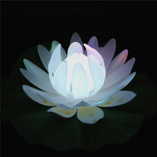 1PC Color-changing Waterproof LED Floating Water Acrylic Lotus Flower Light for Home Garden Pond Decor