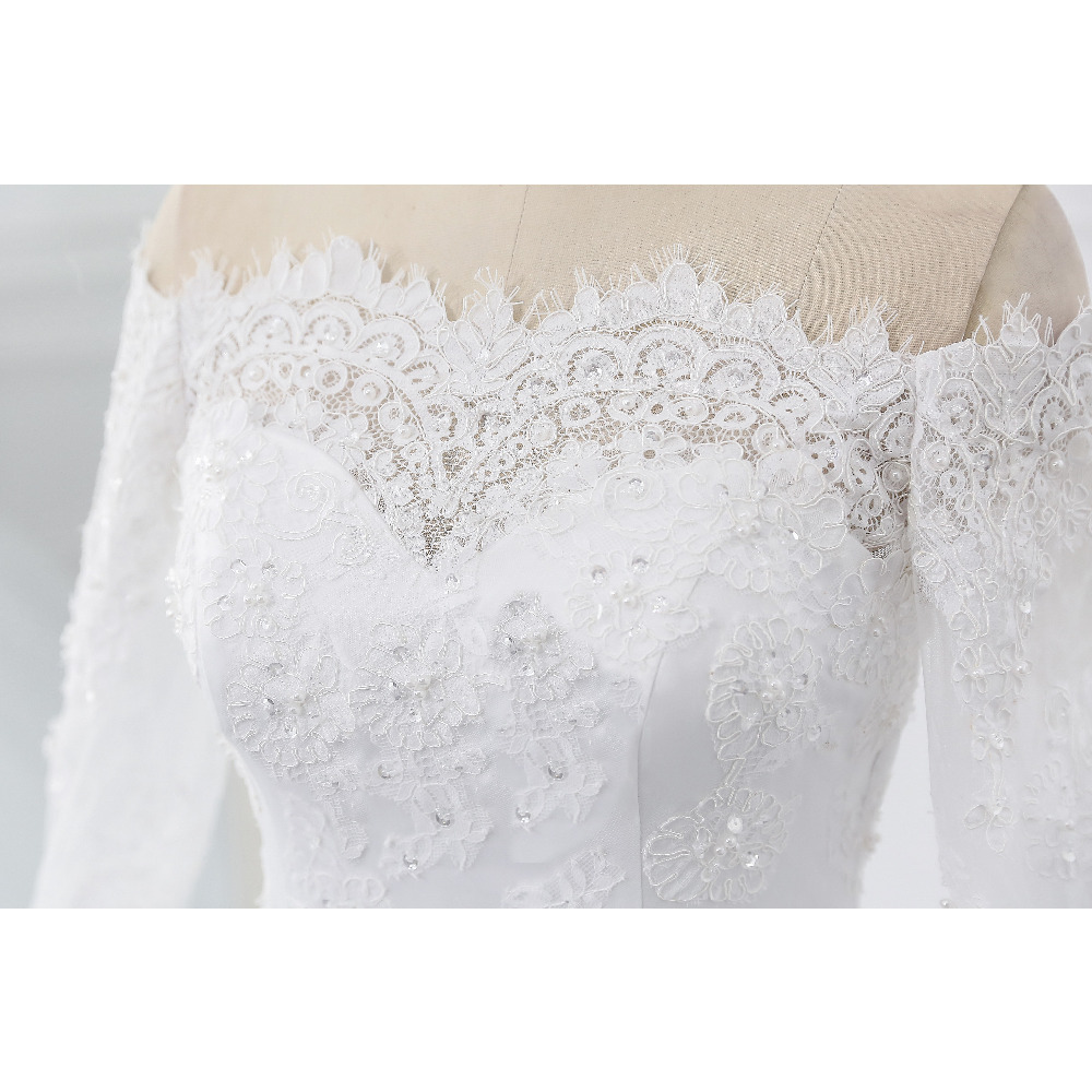 Lover Kiss Vestidos de Noiva Ball Gown Wedding Dress Long Sleeves Wedding Dresses Tulle Vestido de Noiva Casamento Mariage Boda 7