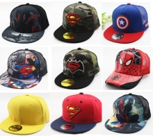 Hot Sale Children Cartoon Colorful Superman Batman Adjustable Kids Baseball Snapback Cap Unisex Hip Hop Hats(China)