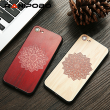 Buy Wood Case iphone 7 6 6s Plus 7Plus Cover DIY 3D Flower Rose Maple Wooden Embossed Phone Cases Fundas iPhone7 for $1.29 in AliExpress store
