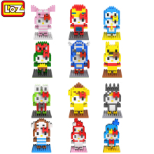 Hot sale loz blocks diamond building blocks cartoon hello kitty toys many styles toy brick cute kids toys educational girl gift