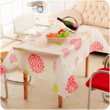 PVC Table Cloth Plastic Waterproof Dining Tabelcloth Folower Table Cover Overlay PT(China)