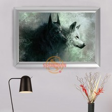 Wolves Wolf picture Photo Painted painting print on canvas for home decor painting arts Frame H0317gfl75(China)