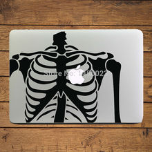 "Skeleton Heart  Laptop Decal Sticker for Apple MacBook Decal 11"" 13"" 15"" Mac Cover Case Sticker Adesivo Pegatina para Notebook"