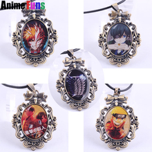 Anime One Piece Fairy Tail Black Butler Bleach Fairy Tail Death Note Naruto Attack on Titan Game League of Legends Logo Necklace(China)