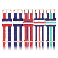 Top Quality luxury watchband 20mm colorful nato nylon leather strap belts for watch dw luxury watch men