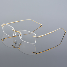 Fashion Eyewear Unisex Glasses Frame Concise Design Rimless Eyeglasses Men Women Name Brand Glasses Spectacles Optical Goggles
