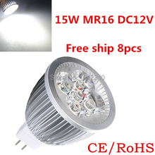 8pcs/lot Par20 Led Lamp MR16Dimmable 5X3W 15W Spotlight Led Light Led Bulbs 85V-265V Energy Saving Free ship(China)