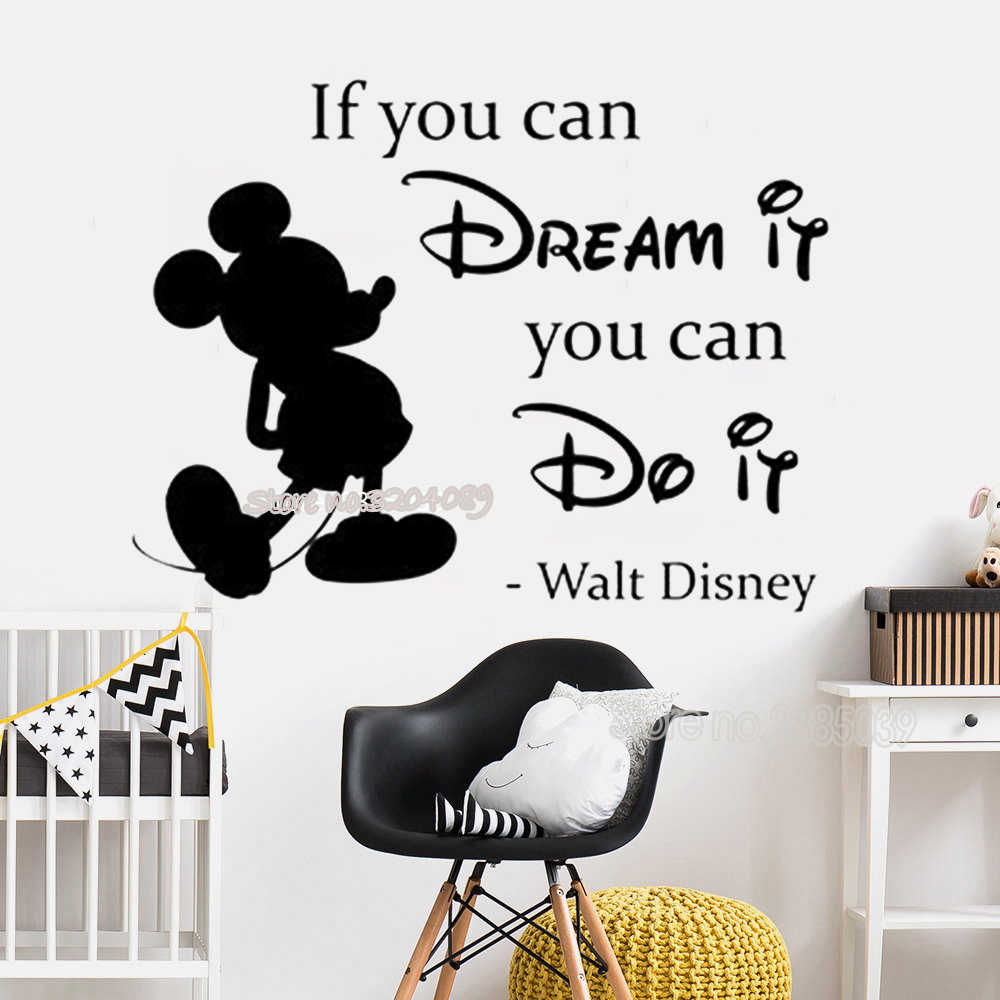 Minnie Mickey Mouse Wall Sticker If You Can Dream It You Can ...