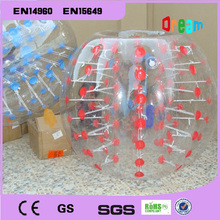 Free Shipping 1.0mm PVC 1.5m Inflatable Bubble Soccer Ball Zorb Ball Bubble Football Human Size Hamster Ball Bumper Ball(China)