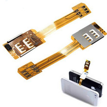 new Dual Sim Card Adapter Nano sim Converter Single Standby Flex Cable For iPhone 5 5S 6  ipad mini/air