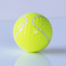 Free Shipping 6pcs/lot Tennis Golf Balls Two Layers Golf Balls Golf Practice Ball Golf gift balls