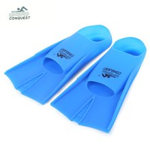 CONQUEST 1piece Adult Diving Fins High Quality Silicone Underwater Swimming Flippers Fin Foot Pocket Diving Equipment Size L-2XL