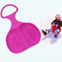 Kids Snow Ski Pad Snow Sled Kids Sledge Snowboarding Winter Outdoor Sport Sand Pad Skiing Board for Toddlers Fun Sports Toys P25(China)