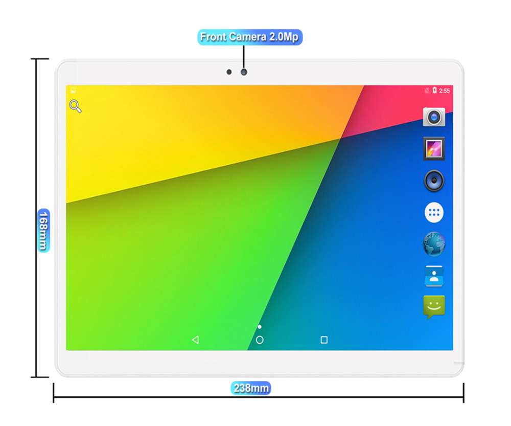 4G tablet size