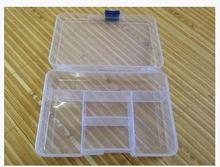 5 Grid glide buckle design electronic components small jewelry store content storage box transparent plastic boxes 20pcs/lot(China)