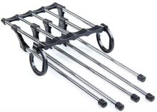 5In1 Portable Retractable Multiuse Stainless Steel Hanger/Organizer/Rack For Trousers/Clothes/Travel/Space Saver Metal Multi-lay