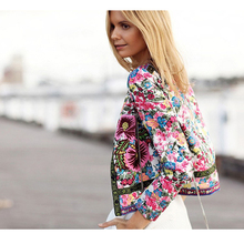 free shipping AliExpress EBAY hot explosion models women national printing jacket cardigan jacket