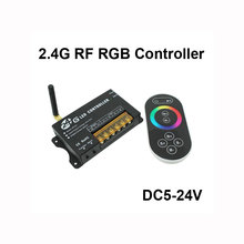 2.4G RF Touch Screen RGB LED Dimmer Color Temperature Controller DC5V-24V