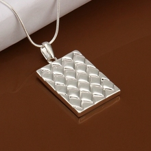 Wholesale 925 jewelry silver plated Solar Panels Necklace,New Design Pendants Necklace,Free Shipping SMTN401(China)