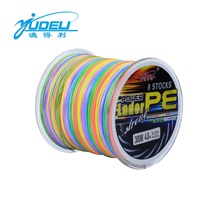 YUDELI dyneema Fishing lines Lader300MPE line Braided wire 5 kinds of color 8 strands of line weaving Fishing gear(China)