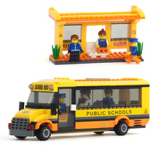 293pcs City Happy School Bus Building Blocks Toys Baby Boy Girl Toys Children Toys Educational Toys for Children K0291-20115(China)