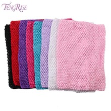 FENGRISE 24X32cm Fabric Knit Tulle Spool Crochet Chest Wrap DIY Tube Tops Girl Birthday Gifts Headbands Skirt Sewing Accessories(China)