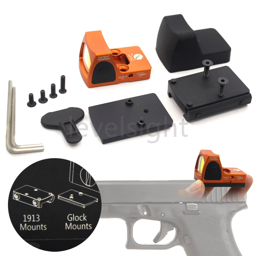 Tactical RMR Reflex Red Dot Sight 3.25 MOA Scope for Glock Hunting Fit 20mm Pictinny Rail Mounts Sport Toll<br>