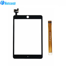 Netcosy Touch screen digitizer glass panel with IC conector For iPad Mini 3 A1599 A1600 A1601 Tablet touch panel & TP test cable(China)