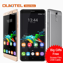 "6000mAh OUKITEL K6000 Pro 4G Mobile Phone  Android 6.0 MTK6753 Octa Core 3GB+32GB 16MP Fingerprint 1920*1080 5.5"" FHD Smartphone"