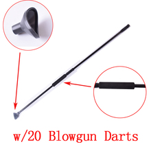 Blacl M50 Blow Gun with junction tube and 20pcs Metal needle darts for Hunting shoooting blowgun(China)