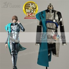 Game Movie Dynasty Warriors Zhong Hui Cosplay Costume Blue Black Fighting Full Set